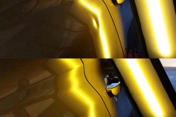 eliminar las abolladuras del vehículo