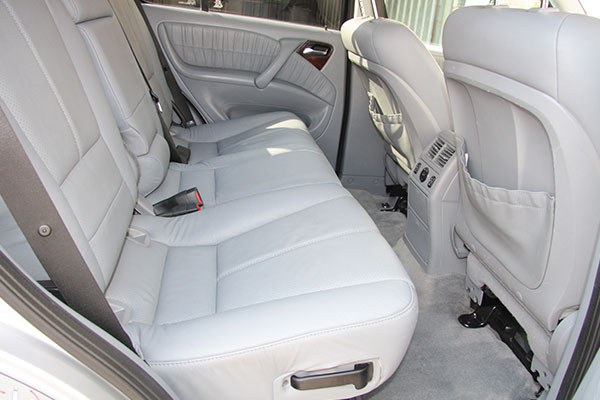 Limpiar asientos de cuero coche
