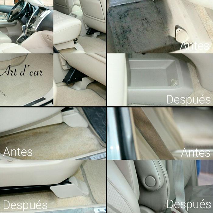 limpiar los asientos del coche
